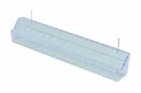 Krmítko 39 cm s háčky- transparentní art.100