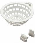 Hnízdo pro kanáry plastové bílé- průměr 9 cm art.8