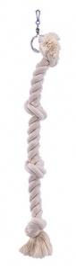 Závěsné bavlněné lano velké se 4 uzly 67cm