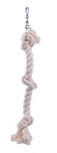 Závěsné bavlněné lano malé se 3 uzly 38cm