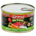 GRAND SUPER Hovězí + mrkev 380g