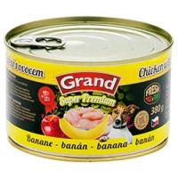 GRAND SUPER Kuřecí + banán 380g