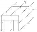 Voliéra 302x202x202 cm- 2 boxy bez krmných pultů