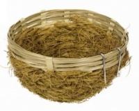 Hnízdo bambusové + kokosové vlákno 11x5cm
